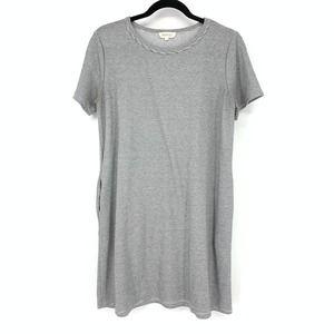 Roolee Size M Short Sleeve Striped T-Shirt Dress